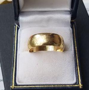 14K Yellow Gold Thick Unisex/Men's Wedding
